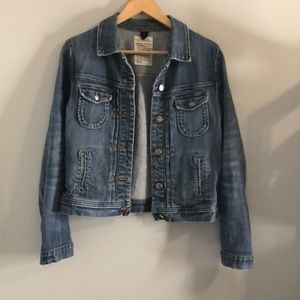 J. crew jean jacket size small